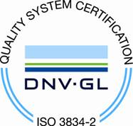 ISO 3834-2 certificate