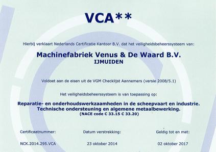 VCA 2 sterren voor Venus & De waard
